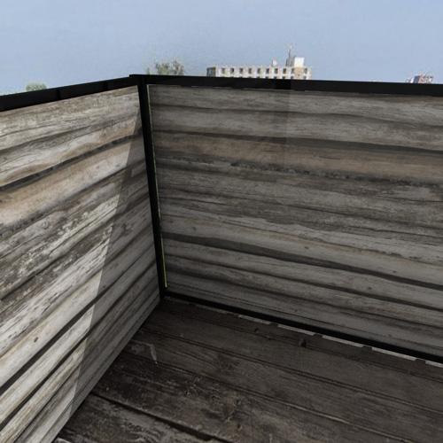 Balkonafscheiding planken horizontaal