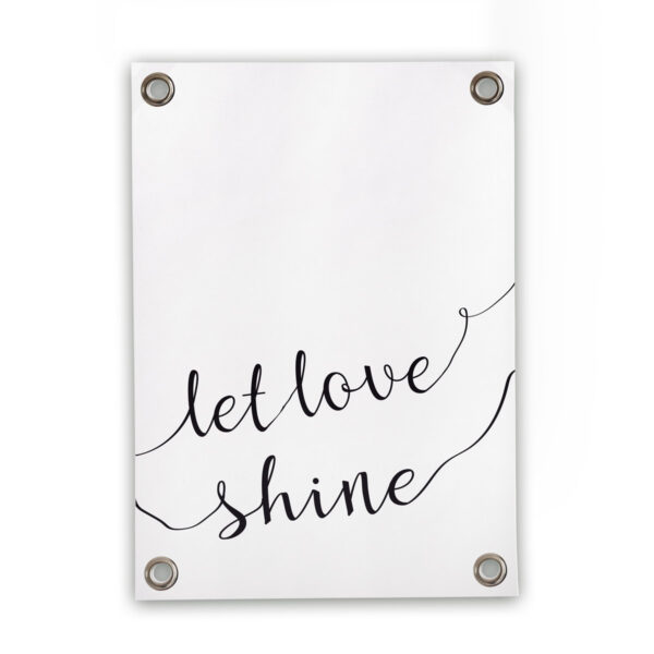 Sipp Outdoor tuinposter Let Love Shine Sipp Outdoor buitenposter