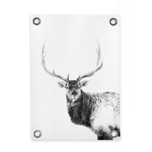 Outdoor poster deer black and white Villa Madelief