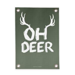 Tuinposter Oh Deer Villa Madelief