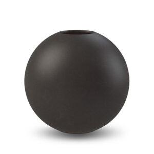 ronde vaas zwart Cooee Design 10cm