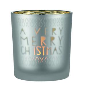 theelichthouder a very merry Christmas mat glas Räder