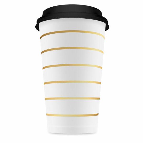 coffee to go bekers goud gestreept Villa Madelief