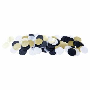 XL Confetti zwart wit goud Delight Department
