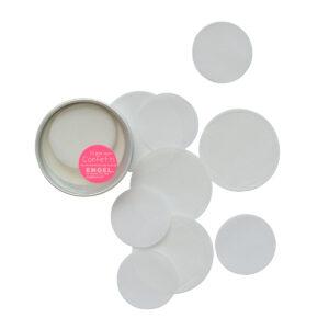 XL confetti papier wit