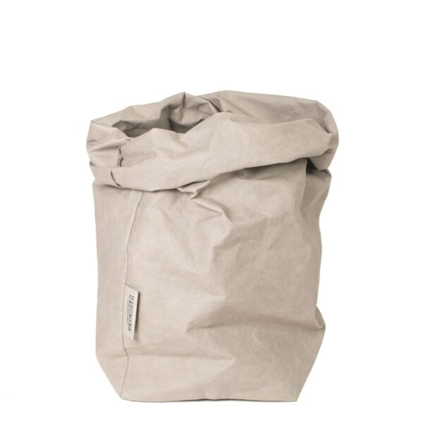 uashmama paper bag grijs extra large villa madelief