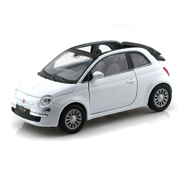 Fiat 500 miniatuur cabrio wit