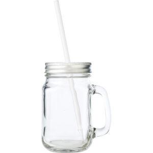 mason jar glas met rietje villa madelief