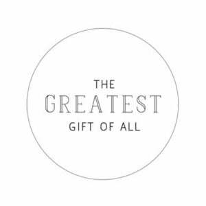 greatest gift sticker wit