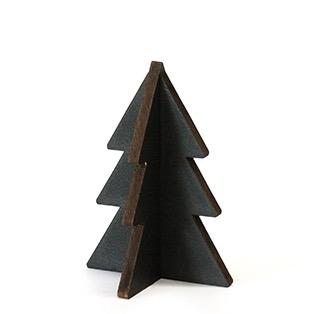Houten kerstboompje zwart hout villa madelief