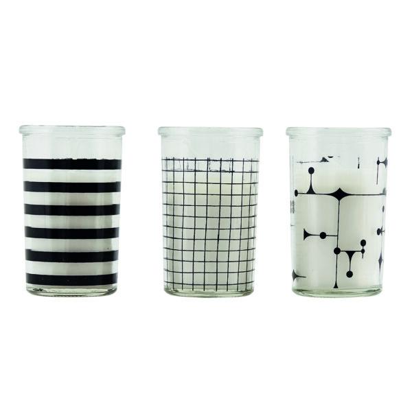 set van drie kaarsen in glas House Doctor