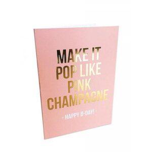 kaart pop like pink champagne