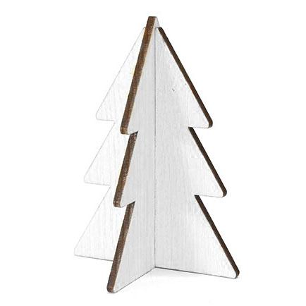 Kerstboom Wit Hout 15 Cm De Kerstaccessoire Van 2016 Villa Madelief