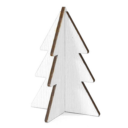 kerstboom wit hout 15cm Villa Madelief