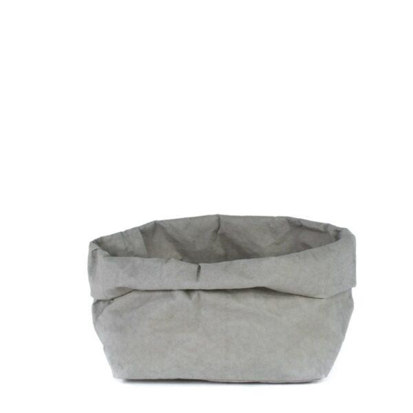 uashmama paper bag grijs large villa madelief
