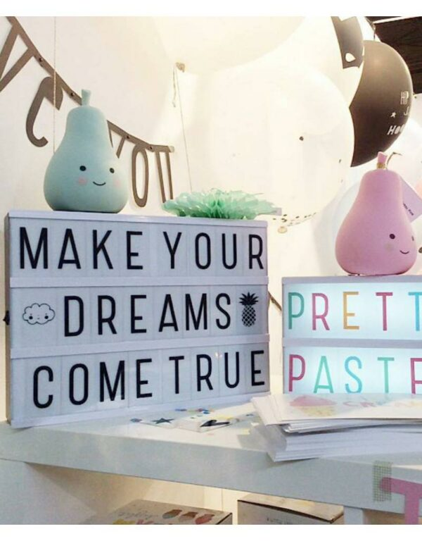 letterset pastel lightbox a little lovely company