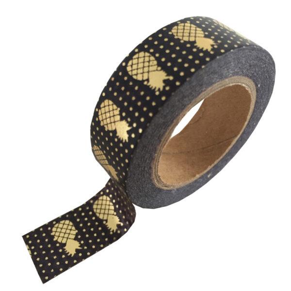masking tape zwart ananas goud