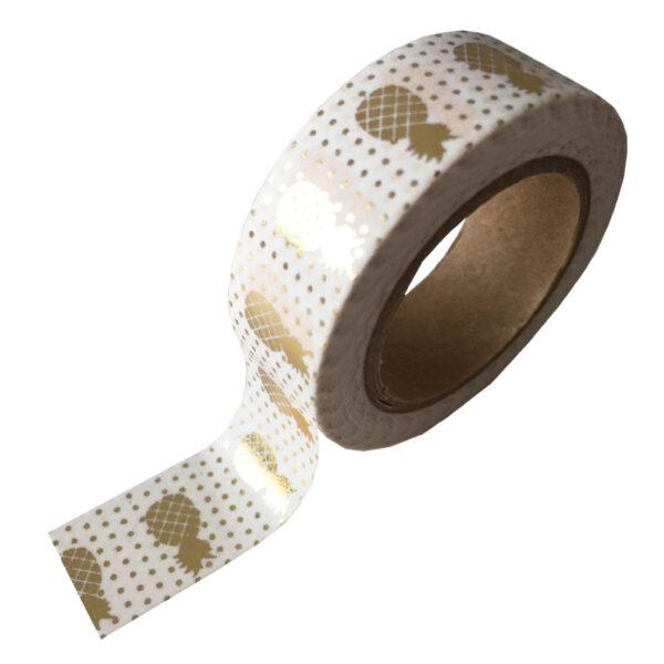masking tape wit ananas goud
