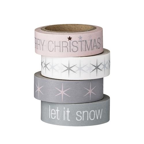 masking tape kerst roze wit grijs
