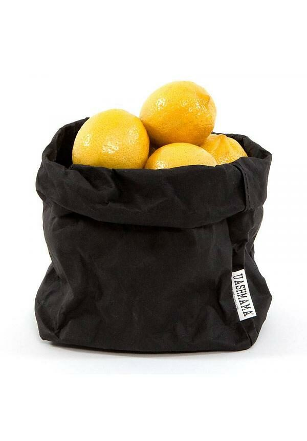 uashmama paperbag zwart medium villa madelief