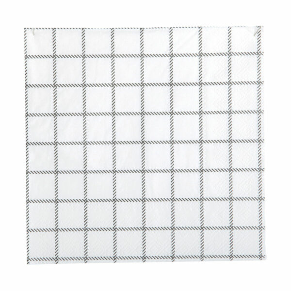 zwart wit servetten grid Nicolas Vahé