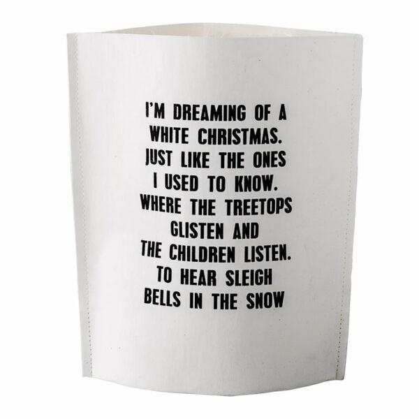witte paperbag bloomingville white christmas