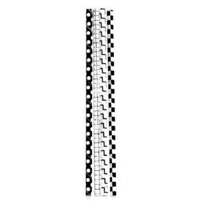 papieren rietjes zwart/wit grid kikkerland