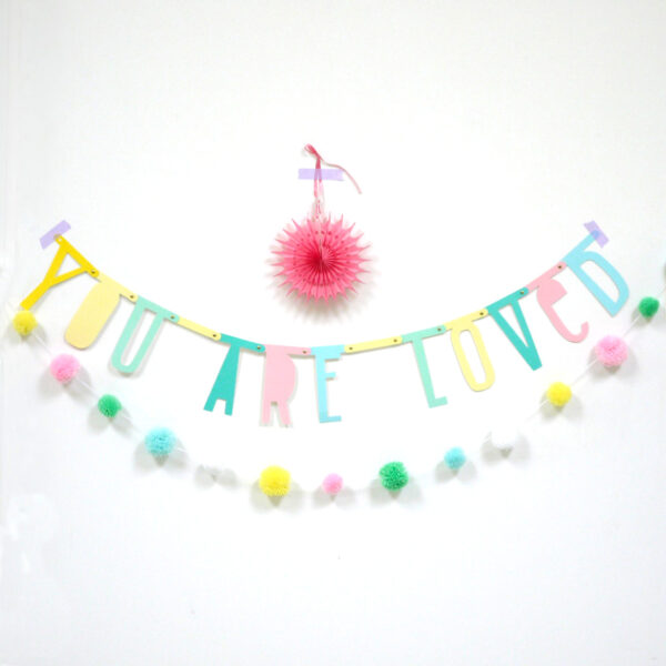 letterbanner pastel a little lovely company