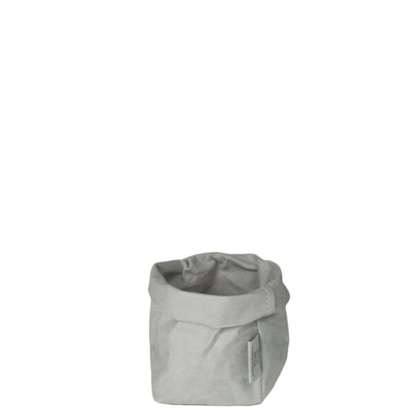 uashmama paper bag grijs piccolo villa madelief