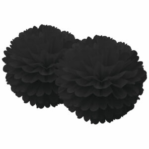 pompom zwart set van 2 Delight Department