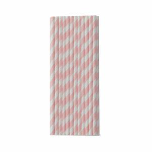 papieren rietjes roze streep