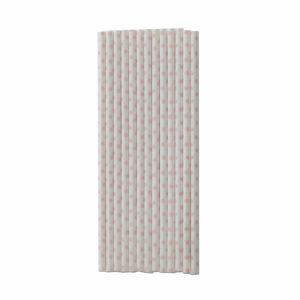 papieren rietjes wit met roze stippen