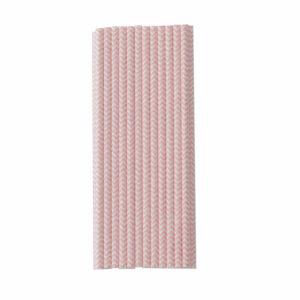 roze papieren rietjes zigzag