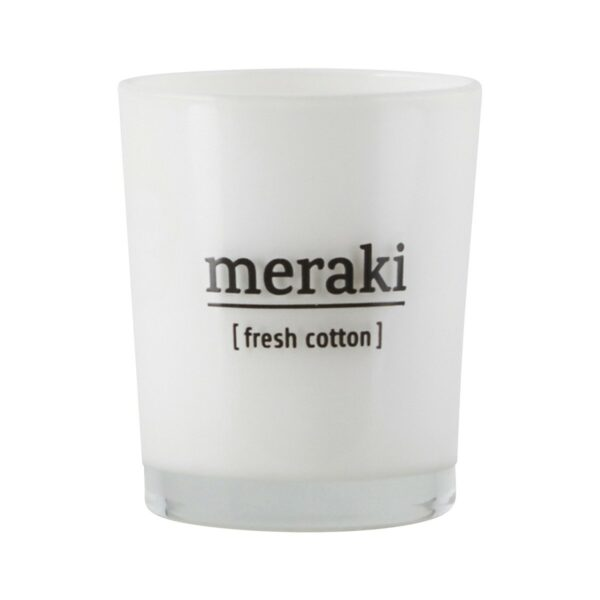 Meraki geurkaars fresh cotton in glas