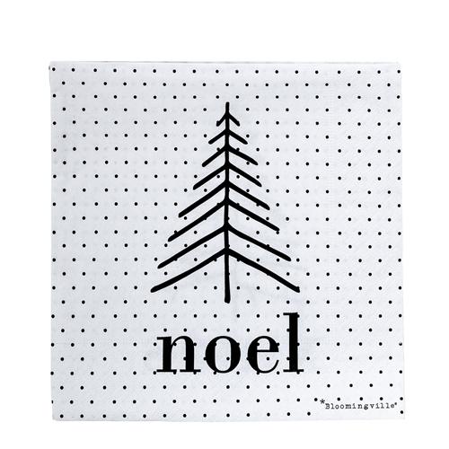 hippe zwart wit servetten kerst bloomingville