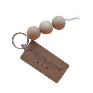 sleutelhanger houten kralen