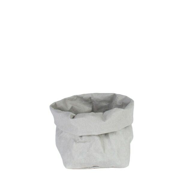 uashmama paper bag grijs small villa madelief