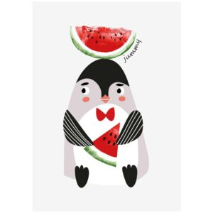 pinguin poster pinguin kaart sparkling paper
