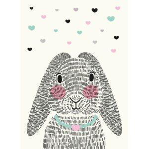 kaart mrs. rabbit sparkling paper