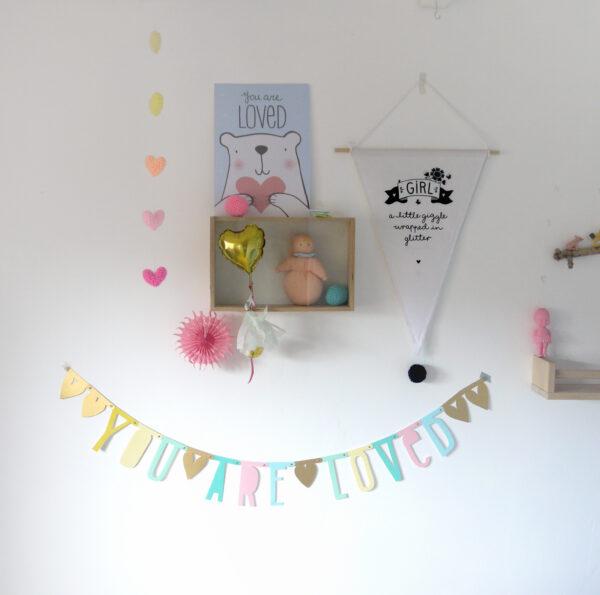 letterbanner wordbanner pastel a little lovely company