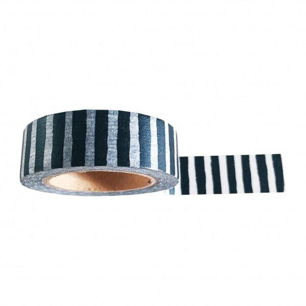 masking tape zwart wit gestreept