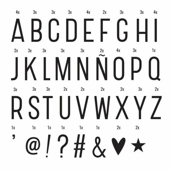 symbolen set basic lightbox lettersbak a little lovely company