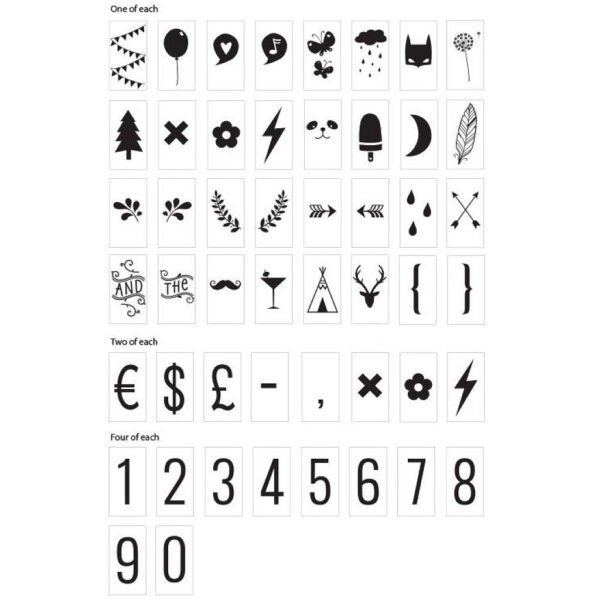 symbolen set lightbox lichtbak a little lovely company
