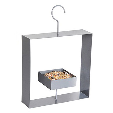 Design bird feeder grey