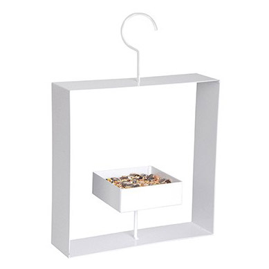 Design bird feeder white