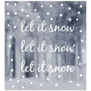 delight department raamsticker let it snow villa madelief