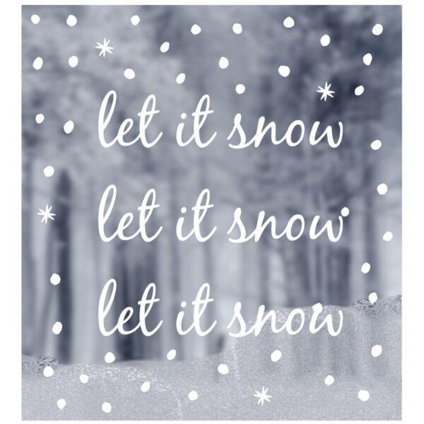 delight department raamsticker let it snow villa madelief