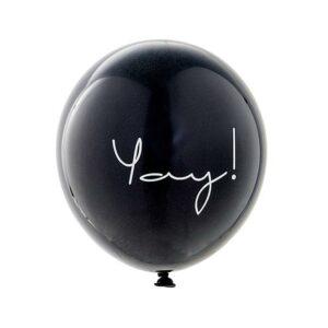 zwart wit ballonnen yay Villa Madelief