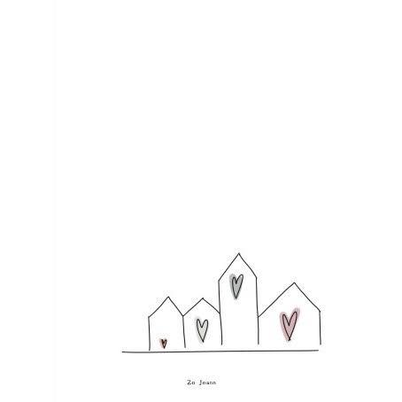 Zo Joann kaart huisjes Villa Madelief
