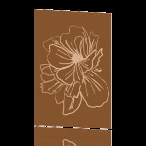 Huis van Mijn kaart bloemen lijntekening Villa Madelief